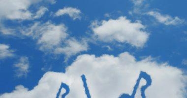 空にある音符の画像